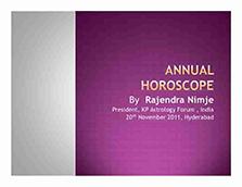 image-Annual horoscope by Rajendra Nimje