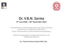 image-Dr. VBN Sarma Shradhanjali