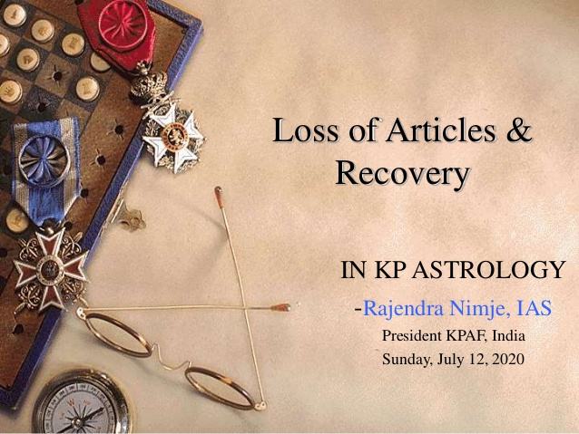 image-Loss of articles & Recovery